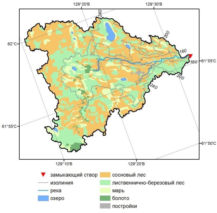 Водосборный бассейн реки Шестаковки